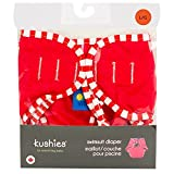 Kushies Cloth Swim Diaper - - Red - Medium