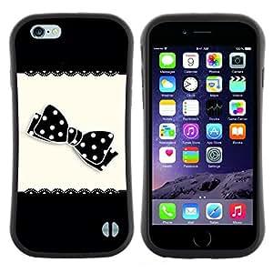 "Hypernova Slim Fit Dual Barniz Protector Caso Case Funda Para Apple (4.7 inches!!!) iPhone 6 / 6S (4.7 INCH) [Arco Patrón Negro lunar blanco""]"
