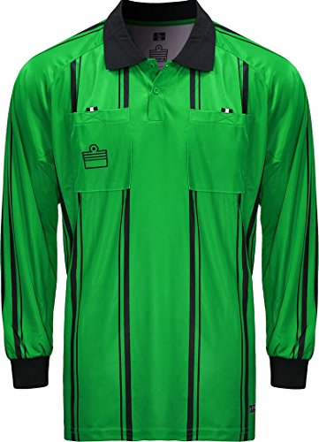 Admiral Long Sleeve Pro Soccer Referee Jersey, Emerald/Black, Adult XX-Large