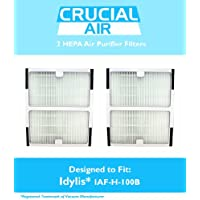 2 Idylis HEPA Air Purifier Filter; Fits Idylis Air Purifiers IAP-10-125, IAP-10-150; Model # IAF-H-100B; Designed & Engineered by Crucial Air