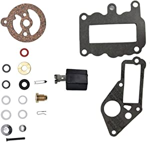 CQYD New 382048 Carburetor Kit with Float For Johnson Evinrude Outboard Engine 382048 Premium 1964-1973 9.5 HP # 765630