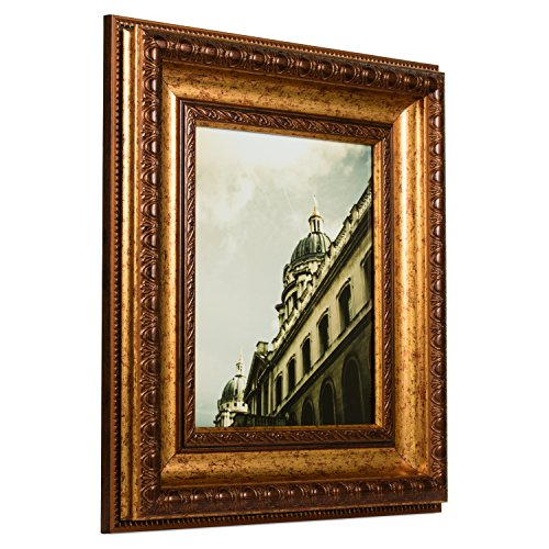 Craig Frames Arqadia Gothic, Aged Gold Picture Frame, 18 by 24-Inch