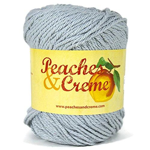 Cream Creme Cotton Yarn - Peaches & Creme (Cream) Cotton Yarn Dark Gray 2.5 oz.