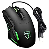 VicTsing 7200DPI Programmable Gaming Mouse, Backlit Gaming Mice for PC Laptop Desktop Notebook, Adjustable LED, 7 Buttons, Support Macro Editor