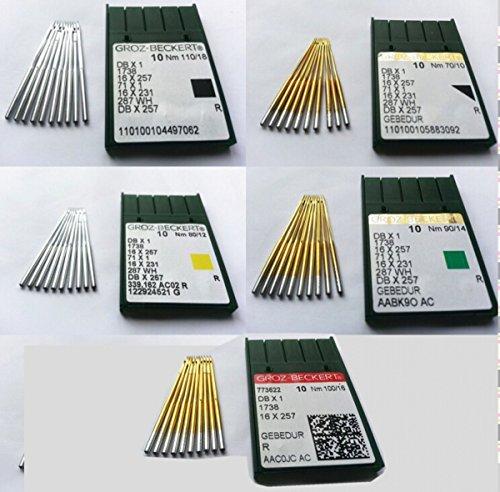70//10 80//12 90//14 100//16 110//18 ,5 size,10 per size 50PCS GROZ-BECKERT INDUSTRIAL SEWING MACHINE BALLPOINT NEEDLES Sewing Machine Needles DB1 Dbx1 1738 16X231