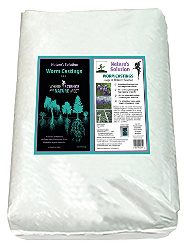 Nature's Solution Organic Worm Castings 40 Lb by Nature's Solution