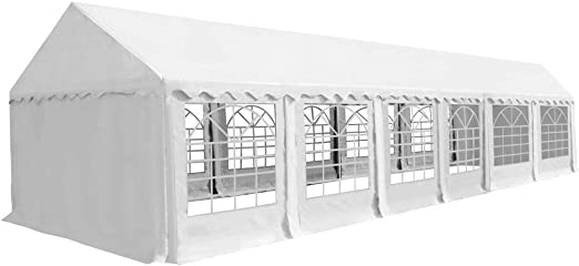 XINGLIEU Carpa de jardín marquesina PVC 6 x 12 m Blanco pérgola toldo Material: Tela (500 g/m2) y Acero galvanizado: Amazon.es: Jardín
