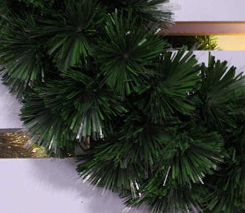 pre-lit white Color LED Fiber Optic Christmas Wreath (24in, warm white) by HOLIDAY STUFF (Image #4)