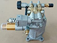 "Premium Cold Water Gasoline Pressure Power Washer Cleaner Replacement Axial Pump 3/4"" Shaft 3000PSI 2.5 GPM Bras Head Simpson, Briggs & Stratton Etc."