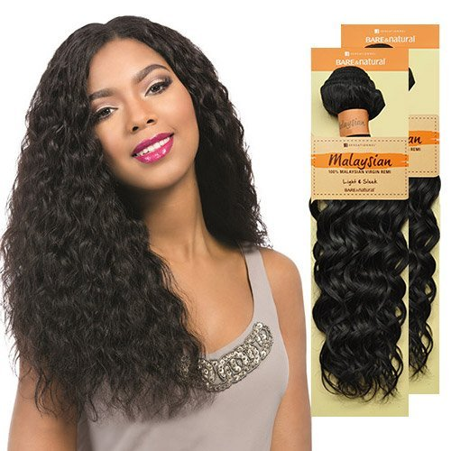 (Sensationnel Unprocessed Malaysian Virgin Remy Human Hair Weave Bare & Natural Spanish Wave (12