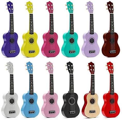 ギター 小型ハワイギターキッズのために21インチのアコースティック・ソプラノ4文字列のミニバスウッドウクレレ楽器玩具 クラシック ギター (Color : C4, Size : 21inch)