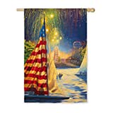 Patriotic Sail Garden Flag Size: 43″ H x 29″ W For Sale
