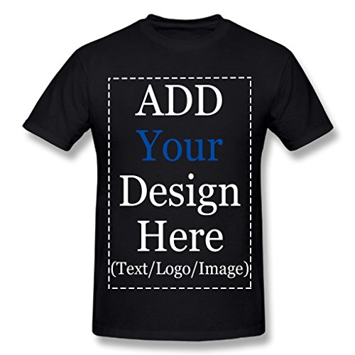 Custom T Shirts Men Add Design Your Own Text Name Photo Cotton Personalized Tee