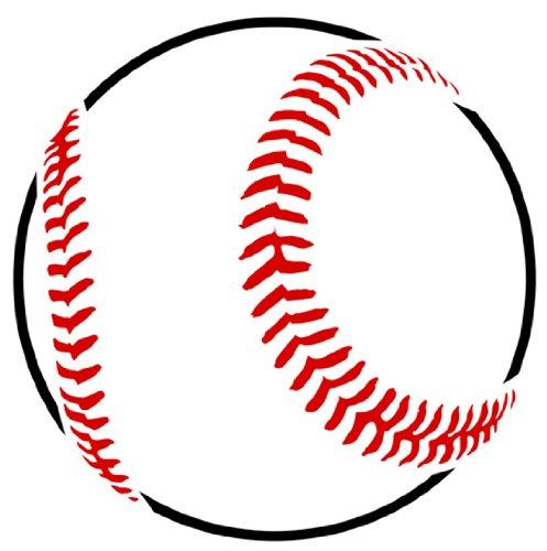 Baseball Shape Stencil - 6 inch - 10 mil Medium-Duty
