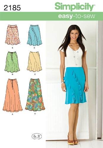 - Simplicity Sewing Pattern 2185: Misses' Easy To Sew Skirts, Size H5 (6-8-10-12-14)