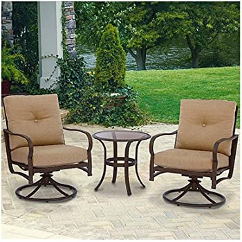 Patio Master S3 ACH05001 3 Piece Bellevue Deep Seating Chat Set