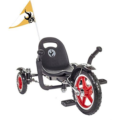 Mobo Cruiser Tri-705BK Tot Rockabilly Trike, Black