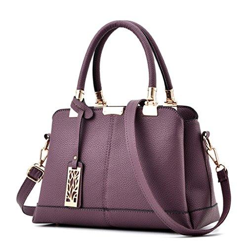 femme bandoulière à Sac sac bandoulière Couleur PU A sac à Handbag à cuir à main en 2 sac bleu petit main oblique Fxaqw