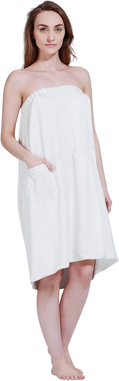 SINLAND Women's Spa Wrap Microfiber Bath Wrap Shower Robes with Adjustable Closure