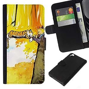 All Phone Most Case / Oferta Especial Cáscara Funda de cuero Monedero Cubierta de proteccion Caso / Wallet Case for HTC Desire 820 // Tiger T1Gger Adventure
