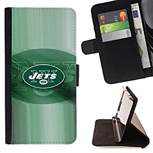For LG G2 D800 JETS Football Team Beautiful Print Wallet Leather Case Cover With Credit Card Slots And Stand Function