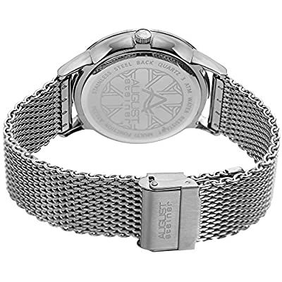 August Steiner AS8230 Men's Quartz Radiant Sunray Dial Stainless Steel Casual Watch