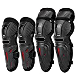 Acouto 4 Pcs Motorcycle Motocross Cycling Elbow Knee Pads Anti-fall Protective Sports Protective Gear Safety pad