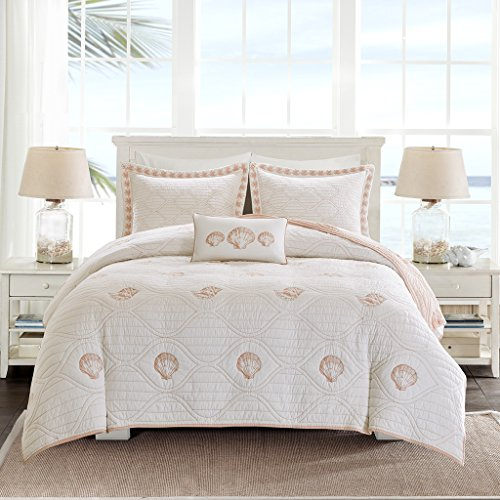Jla Home Inc Harbor House Seaside Coral Quilt Coverlet Set