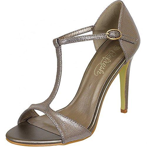 Refresh Shoes - Sandalias de vestir de Piel para mujer Negro negro Negro - bronce