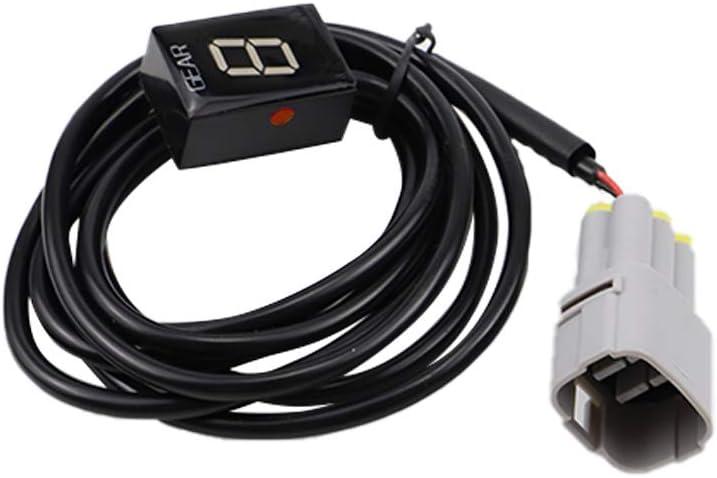 rosso Plug /& play per Suzuki GSX-R600//750//1000 DL650//1000 V-Strom GSF650 GSF1250 Bandit GUAIMI Indicatore di marcia per motocicletta Display a LED