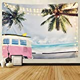 Sunm Boutique Beach Tapestry Wall Hanging Coconut Tree Wall Tapestry Surf Tapestry Bohemian Tapestry Hippie Tapestry Bedroom Living Room Dorm Art Wall Hanging (L59.1'X82.7', 0#)