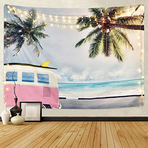 Sunm Boutique Beach Tapestry Wall Hanging Coconut Tree Wall Tapestry Surf Tapestry Bohemian Tapestry Hippie Tapestry Bedroom Living Room Dorm Art Wall Hanging (M51.2