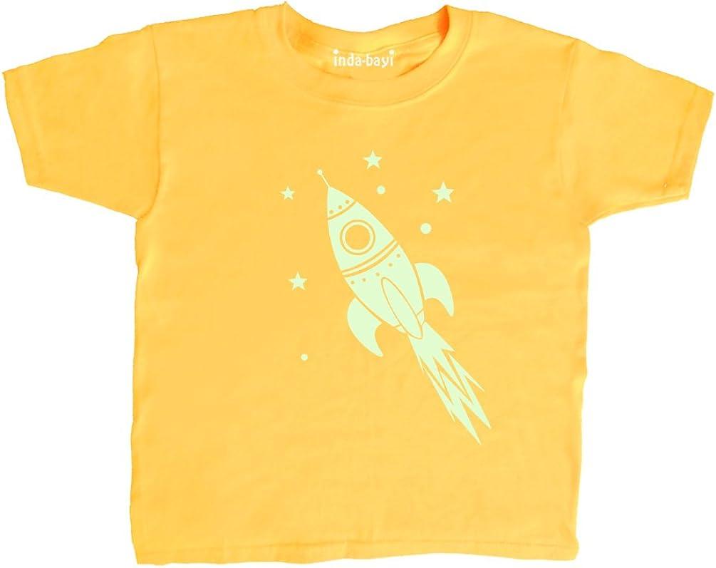 Glow in The Dark Rocket Inda-Bayi Baby-Toddler-Kids Cotton T Shirt