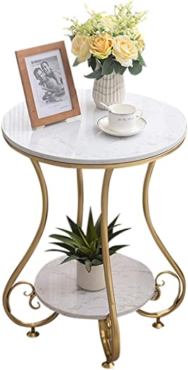 Coffee Table 2 Layer Marble End Table