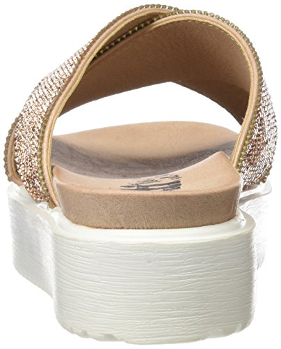 XTI 046560, Sandalias con Plataforma Plana para Mujer Rosa (Nude)
