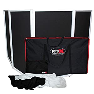ProX XF-4X3048W White Aluminum 4 Panel Scrim Facade Package from ProX