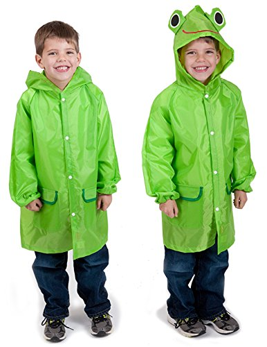 Amazon.com: Cloudnine Children's Froggy Raincoat, for ages 5-12 ...