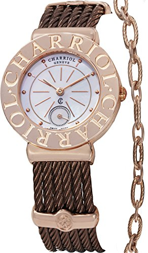 Charriol Women's ST30CP1563007 St Tropez Analog Display Swiss Quartz Brown Watch