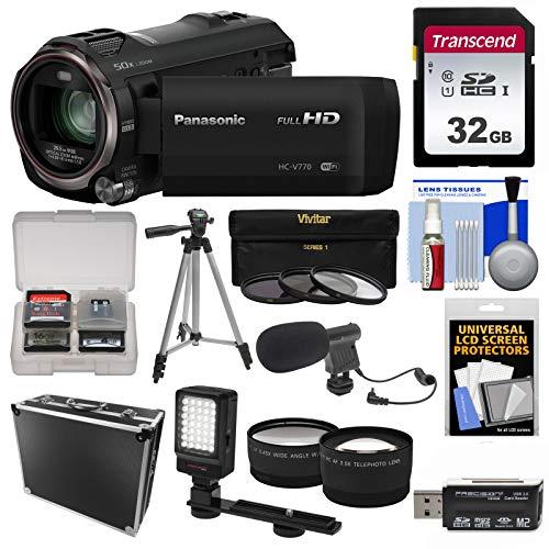 Panasonic HC-V770 Wireless Smartphone Twin Wi-Fi HD Video Ca