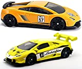 Hot Wheels 2-Pack Lamborghini Exclusive Gran Turismo Gallardo & 2017 Huracan LP Yellow #107 Speed Graphics in PROTECTIVE CASES