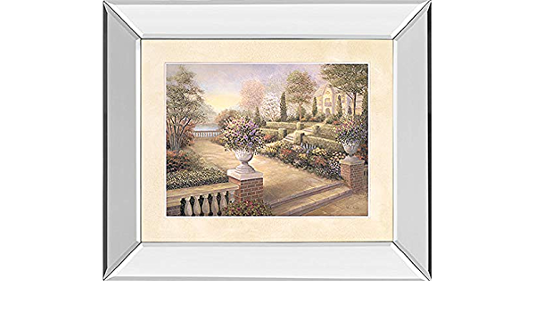Classy Art Patio View By Vivian Flasch Framed Print Wall Art Tan Beige Posters Prints