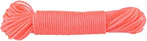 TOPINCN Nylon Rope Lines Cord Clothesline Outdoors Rated Replacement Clothes Line Garden Patio Camping Clothes Drying 20m(Pink)