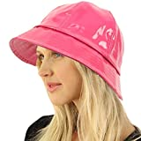 All Season Waterproof Rain Foldable Bucket Fisherman Adjustable Hat Cap Pink