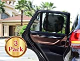 #5: Car Sun Shade(3px) Cling Sunshade For Car Windows - Sun, Glare And UV Rays Protection For Your Child -Side and Rear Window Baby Sunshade By O'Brighton