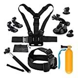 D&F 10-1 Sport Camera Accessories Kit for Gopro Hero 7/6/5/4/HERO(2018) SJCAM YI Crosstour AKASO Campark and Other Action Camera
