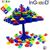 Balance Board Game Set - InGooood Stacking Games Family Activity Desktop Game Topple Puzzles Development IQ Balance Toys For Children
