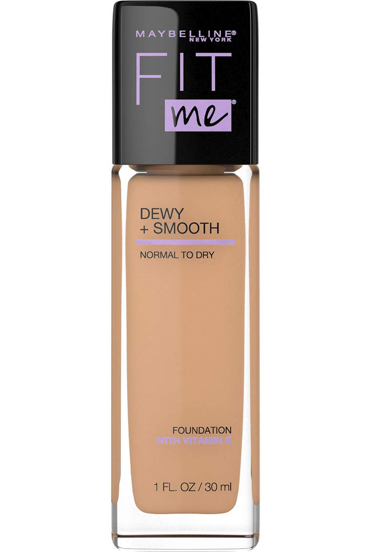 Maybelline New York Fit Me Dewy + Smooth Foundation, Medium Buff, 1 Fl. Oz (Pack of 1) (Packaging May Vary)