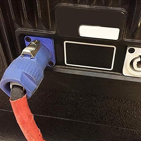 Lot Spina Nac3Fca Speakon 3 Pin Maschio Connettore Powercon 20A 250 V Ac Connettore di Alimentazione Blu e Bianco SODIAL 10PZ
