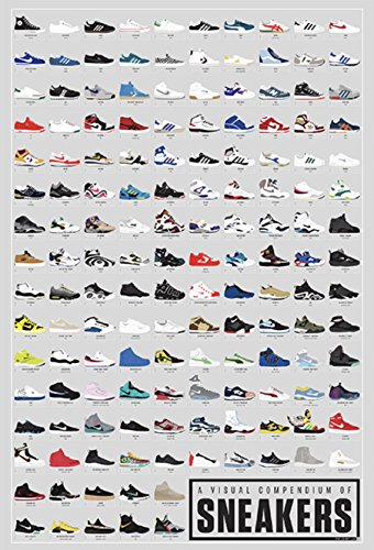 Pop Chart Lab A Visual Compendium of Sneakers Poster Print, Multicolored