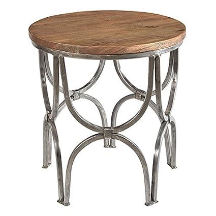 Amazon.com: Overstock Bengal Manor Mango Wood and Steel ...